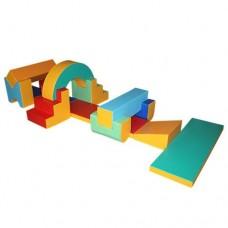 Мягкий спортивный игровой модуль для детей от 1 года из 13 элементов разборный для квартиры, дома Догоняйка