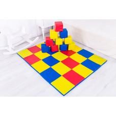 Мягкий развивающий детский игровой мат-коврик с мягкими кубиками для квартиры, садика Кубик 150х150х3 см
