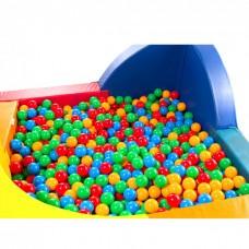 Элемент Наполнитель для сухих игровых бассейнов Разноцветные Шарики 8 см для дома, игровых центров, школ