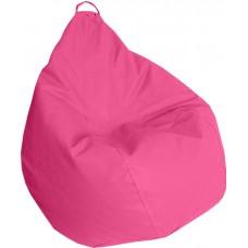 Бескаркасное Кресло-Груша Практик со съемным чехлом из кожзаменителя, с ручкой для переноски, розовый 90х60 см