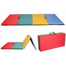 Гимнастический Складной Мат для спортивных залов или домашних тренировок с ручкой для переноски 300х100х5 см