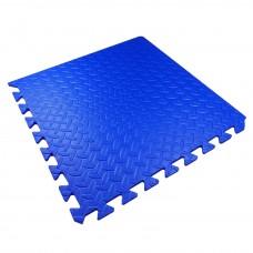 Детский Коврик-Мат Малыш мягкий пол для спортивных уголков дома, в детских садах, EVA, синий 51х51х1см