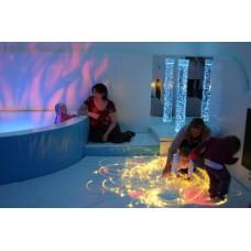 Сенсорная комната Релакс: настенные и напольные покрытия, световое оборудование, сухой бассейн с шариками