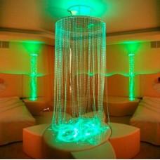 Световое решение для сенсорной комнаты: Комплекс Световой дождь из волокон Starflex длиной 2.5м, основа из ДСП