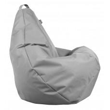 Бескаркасное Кресло-Груша со съемным чехлом из ткани Оксфорд 600D и ручкой для переноски, цвет серый 90х60 см