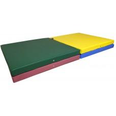 Гимнастический Складной Мат для спортивных залов или домашних тренировок с ручкой для переноски 400х100х8 см