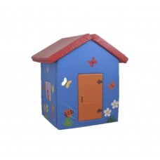 Мягкий игровой объемный Домик Бабочки с аппликациями разборный из матов для дома, детского сада 100х100х140 см