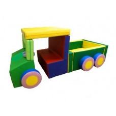 Мягкий Игровой модуль-трансформер Грузовичок для детей от 1 года для дома, игровых центров, детсадов, 21 элем.