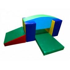 Мягкий спортивно-игровой тренажер из 5 элементов для детей от 1 года для квартиры, детского сада Ползалка дуга