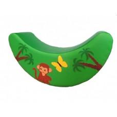 Детская мягкая спортивная игровая Качалка с аппликацией для дома, детского сада, школы Обезьянка 100х30х55 см