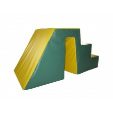 Мягкий игровой модуль Горка-ступенька для сухих бассейнов диаметром 200-500см со съемным чехлом 130х60х60 см