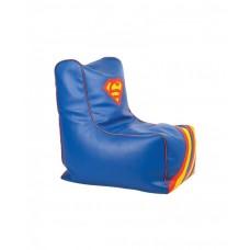 Бескаркасное детское Кресло-мешок Супермен съемный чехол, плотная набивка, пенополистирол, высота спинки 77 см