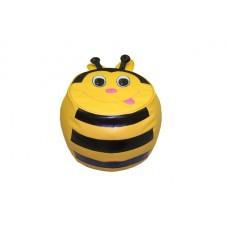 Детский бескаркасный Пуфик Пчелка со съемным чехлом из ткани Оксфорд 600D и ручкой для переноски 35х40 см