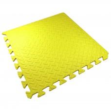 Детский Коврик-Мат Малыш мягкий пол для спортивных уголков дома, в детских садах, EVA, желтый 51х51х1см