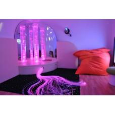 Сенсорная комната Световой дождь: настенные и напольные покрытия, световое оборудование, кресла-мешки и пуфы