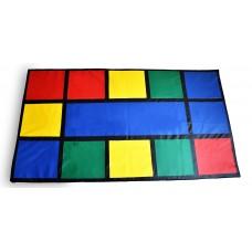 Детский учебно-игровой Мат Радужный для развивающих занятий с детьми от 3 лет, со съемным чехлом 250х140х2 см