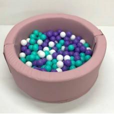 Мягкий развивающий игровой модульный сухой бассейн разборный для дома и улицы без шариков Пинк 100х40 см