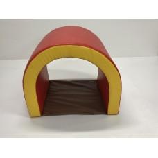 Мягкий спортивно игровой тренажер тоннель для детей от 1 года для квартиры, дачи или дома Арочный 60х80х60 см