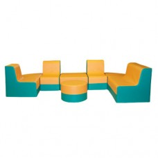 Мягкий модульный комплект детской игровой мебели от 1 года для дома, дачи или школы Умница 270х150х100 см