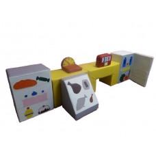 Мягкий Игровой Дидактический Модуль Магазин для детей от 1 года, 8 модулей для дома, игровых центров, детсадов