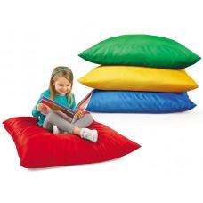 Мягкая разноцветная детская подушка из водооталкивающего материала для любой комнаты дома Гулливер 90х90х30 см