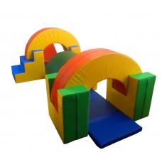 Мягкий спортивно-игровой тренажер из 14 элементов для детей от 1 года для квартиры, детского сада Кто быстрее