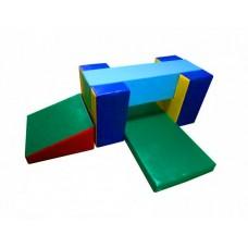 Мягкий спортивно-игровой тренажер из 5 элементов для детей от 1 года для квартиры, детского сада Ползалка блок