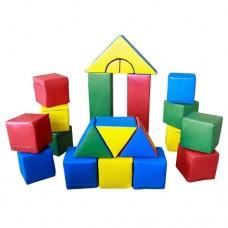 Мягкий игровой Модульный Конструктор Блок-5 из 21 геометрического элемента для дома, игровых центров, школ