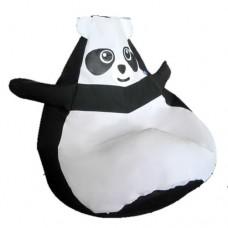 Бескаркасное Кресло-мешок Панда макси со съемным чехлом и ручкой для переноски, пенополистирол 140х100 см