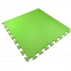 Детский Коврик-Мат Малыш мягкий пол для спортивных уголков дома, в детских садах, EVA, зеленый 51х51х1см