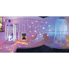 Сенсорная комната Волна: настенные и напольные покрытия, световое оборудование, шторы и кресла-мешки