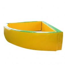 Мягкий развивающий игровой модульный сухой бассейн разборный для дома и улицы без шариков угловой 130х40 см
