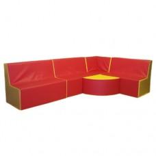 Мягкий игровой модульный угловой диван для детей от 1 года для дома, сада или школы Вундеркинд 150х250х60 см