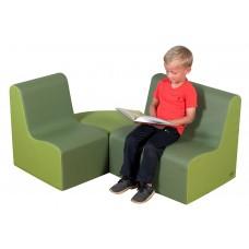 Мягкий игровой модульный набор кресло-диван с пуфом для детей от 3-х лет для квартиры, дома и дачи 120х80х60см