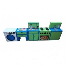 Дидактический развивающий игровой Набор Поварешка из 8 модулей для детей от 1 года, разборный 200х40х30 см