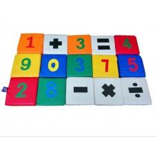Мягкий крупногабаритный дидактический игровой набор из 15 матов для детей от 1 года для дома Юный математик