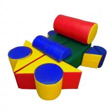 Мягкий спортивный игровой модульный набор-конструктор для детей из 13 предметов для квартиры, школы Самолет