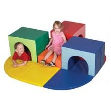 Мягкий модульный игровой детский тренажер из матов для дома,школы разборный Тоннель Альпиниста-3 180х170х50 см