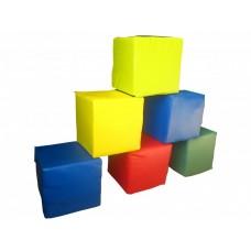Мягкий Спортивно-игровой Набор-конструктор из 6 предметов Кубики 30х30х30см для дома, игровых центров, школ
