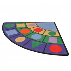 Детский учебно-игровой Мат Угловой для развивающих занятий с детьми от 3 лет, со съемным чехлом 180х180х2 см