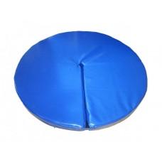 Гимнастический круглый Мат для пилона Pole Dаnce Грация-5 со съемным чехлом, разрез на липучке 140х140х10 см