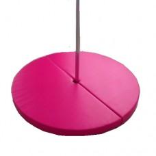 Гимнастический круглый Мат для пилона Pole Dаnce Грация-6 из 2 секций на липучке, съемный чехол 140х140х10 см
