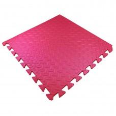 Детский Коврик-Мат Малыш мягкий пол для спортивных уголков дома, в детских садах, EVA, красный 51х51х1см