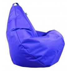 Бескаркасное Кресло-Груша со съемным чехлом из ткани Оксфорд 600D и ручкой для переноски, цвет синий 90х60 см