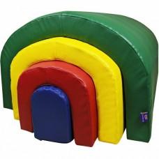 Мягкий игровой сенсорный набор из 4 элементов Монтессори: тоннели и брус для детей от 1 года для квартиры