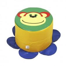Детский бескаркасный Пуфик Обезьянка со съемным чехлом из ткани Оксфорд 600 D, наполнитель ППУ 30х30х30 см