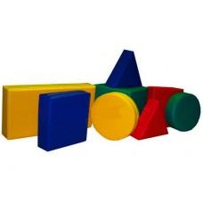 Игровой Мягкий модульный Конструктор из 8 геометрических фигур для детей от 1 года, для дома, игровых центров