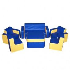 Мягкий игровой модульный уголок для игр и отдыха для детей от 1 года для квартиры, дома со столом Беседа