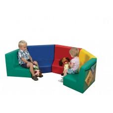 Детский мягкий модульный игровой диван разборный из 5-и фигур для квартиры, дома, дачи секционный 160х80х60 см