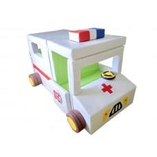Мягкий Игровой модуль-трансформер Скорая помощь для детей от 1 года для дома, детских садов 165х100х110 см